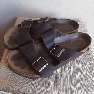 Birkenstock Arizona oiled leather brown size 40